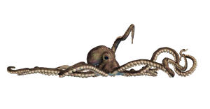 Giant Of The Deep  PNG Stock 04 by Roy3D
