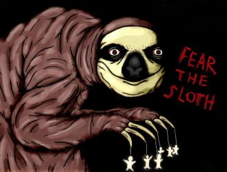 SCP-2774 Fear The Sloth by charcoalman