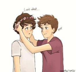 ''Louis what...'' ''I saw it on tumblr'' by smartha