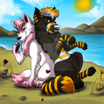 At the beach by cowgirlem