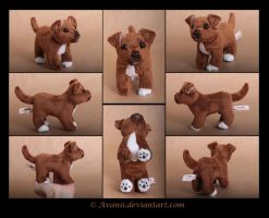 Plushie Commission: Dinky the Dog Beanie by Avanii
