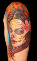 color day of the dead girl by asussman