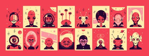 alien faces by garbages