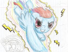 rainbow dash by xparallelskies