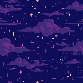 Starry Night Pattern by faundly