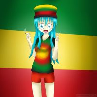 Rastafarian Girl by ThanyTony