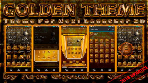 Next Launcher Theme Golden by ArtsCreativeGroup