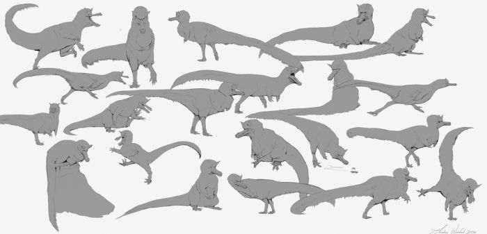 Arctic Raptor Thumbnails by LindseyWArt