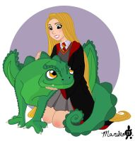 Rapunzel and Pascal the Norwegian Ridgeback by mistressmariko