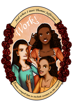 The Schuyler Sisters by MisakiTheHugger