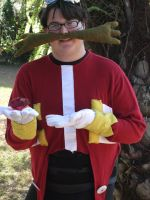 Dr. Eggman Cosplay 6 (with Red Chaos Emerald!) by linkinspirit95