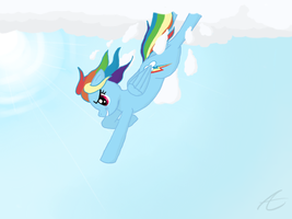 Dashing Through the Clouds by MrBastoff