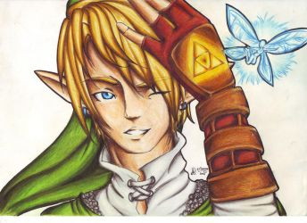 The legend of Zelda fan art by Calysthegia