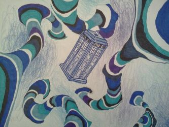50th Anniversary Tribute Drawing to Doctor Who by Kongzilla2010