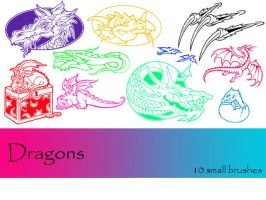 Dragons by TD-Brushes