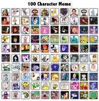 100 Characters Meme by DarkBrawlerCF1994