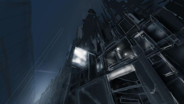 Mechacity - initial sketch by megamars