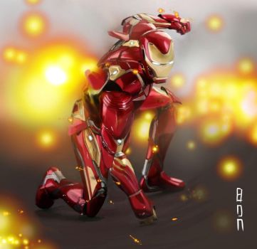 MARVEL: Iron man Infinity War by imIRONBON