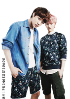Kai and Luhan Exo png by Princess130600
