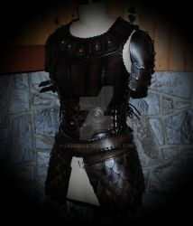women leather armor viking by Lagueuse
