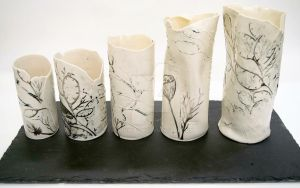 Broken Vessels collection on slate by m0onwitch