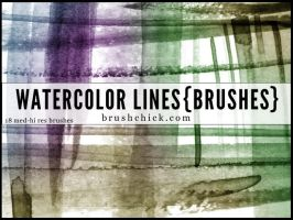 Watercolor Line Brushes by brushchick