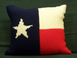 Texas state flag pillow by crochetty-spinner