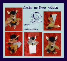 Chibi anthro plush OC commission by Ishtar-Creations
