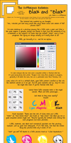Tutorial about CMYK Black Text by luna--kai
