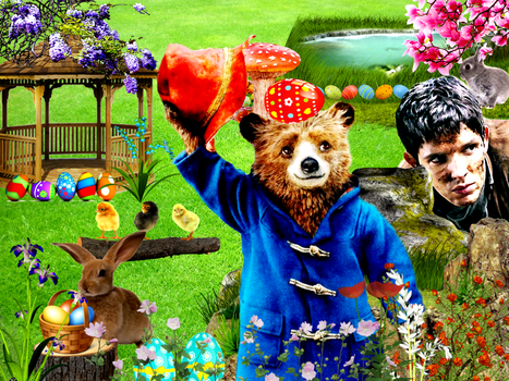 Merlin and Paddingtons Easter Holiday by jillcb