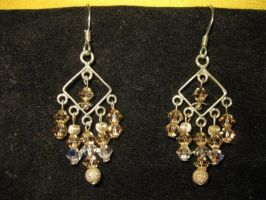 Chandelier Earrings - Champagne by Batalha-Enterprises