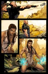 Turbulence Issue-1 pg-4 Color by NewPlanComics