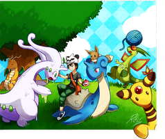 Pokemon Amie by LazyAmphy