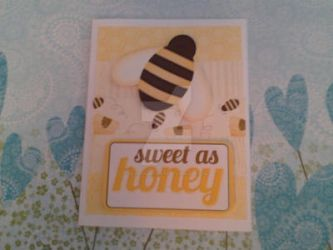 Sweet as honey handmade card by SeasonablyCute