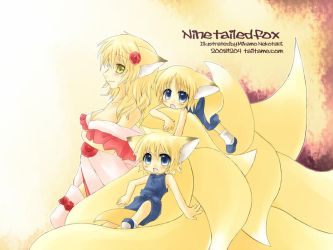 Nine tailed fox by tailtame