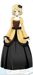 Rin Kagamine cute dress by Godiee06