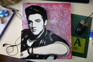 Elvis-Stencil 2 by EarthEvolution