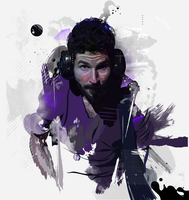 Brad Delson (Motion in Grunge) by Aseo