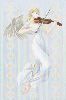 Angel Playing Violin by Alto-MIZUNARI