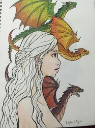 Daenerys Targaryen - Game of Thrones by caylaortega
