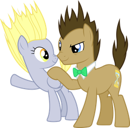 Derpy and Hooves electrified by dasprid