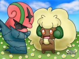 Accelgor and Whimsicott
