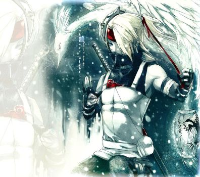 .Winter Anbu . Deidara by sakimichan