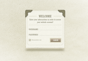 classic login page .psd by emrah-demirag