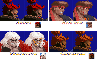 16-bit USF2 Character Select Graphics by geno2925