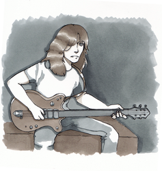 Malcolm Young by Diesukee