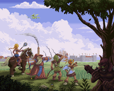 Tibia: Arrival at Thais by robotriot