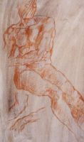 Final Renaissance Drawing - Red Chalk by INFINITE-IDEA