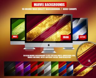 10 Collection Marvel backgrounds by RomeCreation