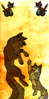 Father and Daughter: Balto and Aleu by EmberWolfsArt